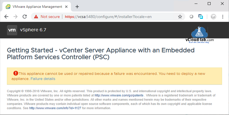 vCenter server appliance 6 5 deployment Error The supplied system is