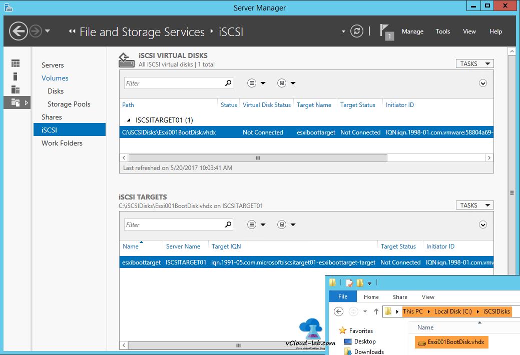 13 Iscsi Storage Server Windows 2017 R2 To Create Virtual Disks Wizard Cofiguration