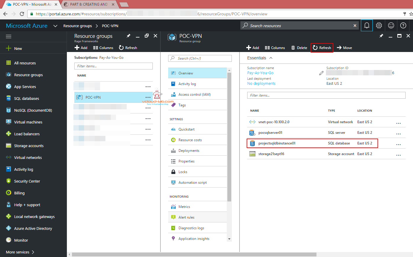 microsoft azure creating and deploying paas sql server database microsoft azure cloud sql database as a services paas sql database instance tables