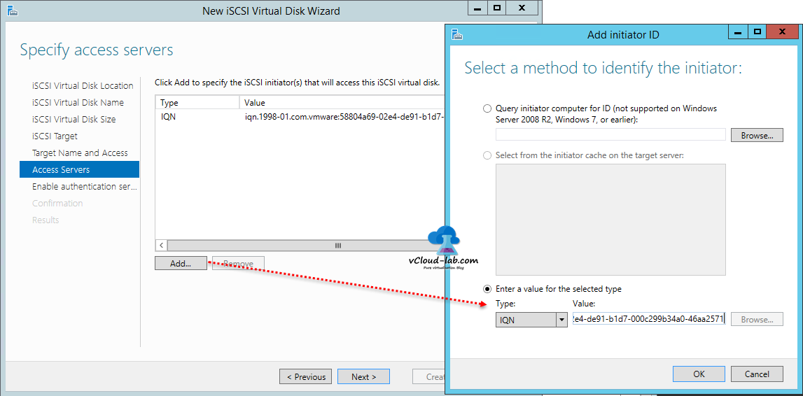 9 Iscsi Storage Server Windows 2017 R2 To Create Virtual Disks Wizard Esxi
