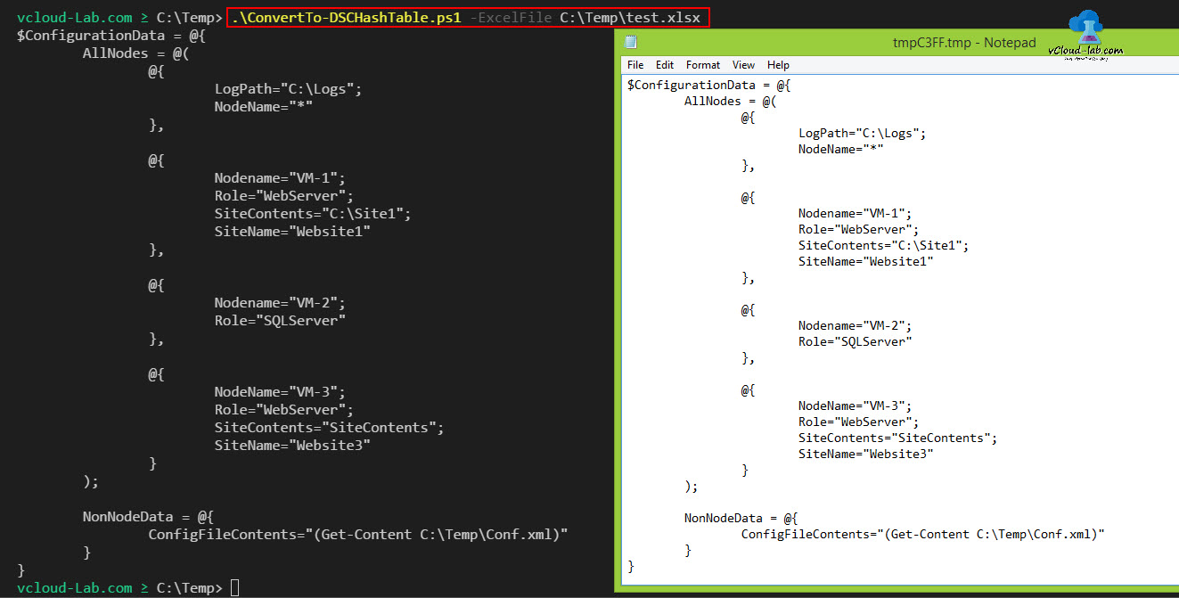 POWERSHELL CONVERT EXCEL TO DSC (DESIRED STATE CONFIGURATION