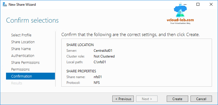 Microsoft Windows 2016 Install and configure NFS server for
