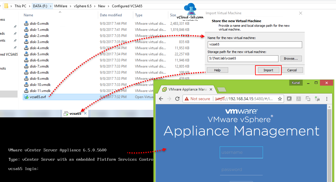 Deploy install VCSA (vCenter server appliance 6 5) on VMWare