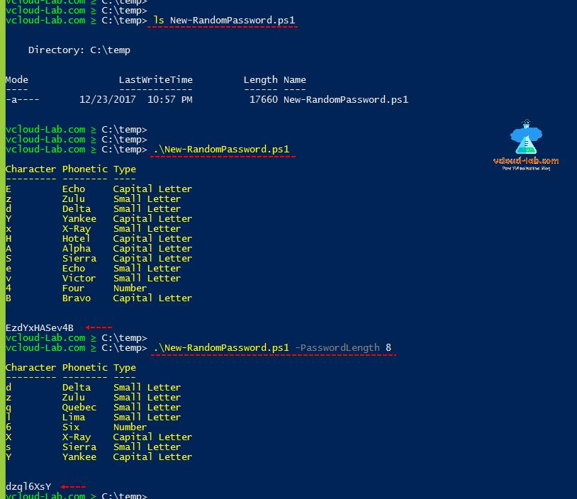 Strong Random Password Generator :Microsoft Powershell
