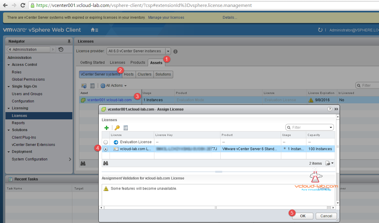 ADDING AND ASSIGNING VSPHERE LICENSES IN VCENTER SERVER AND ESXI