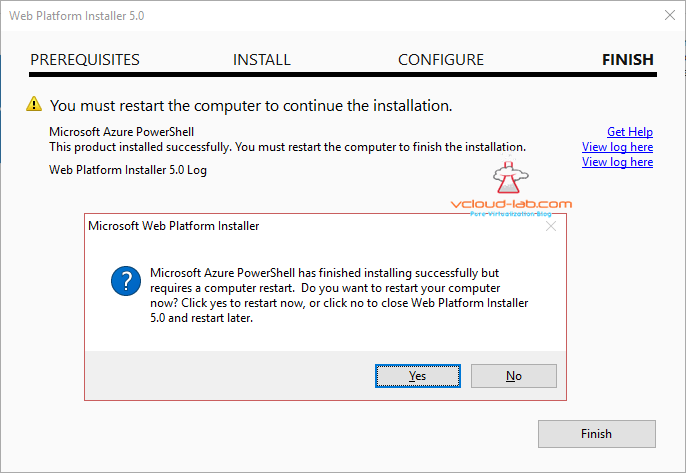 azure web platform install powershell installed finish