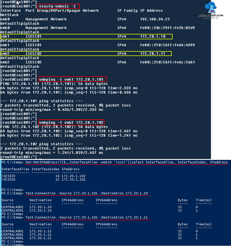 VMWARE ESXI INSTALL AND CONFIGURE SOFTWARE ISCSI STORAGE ... Vmware Ping