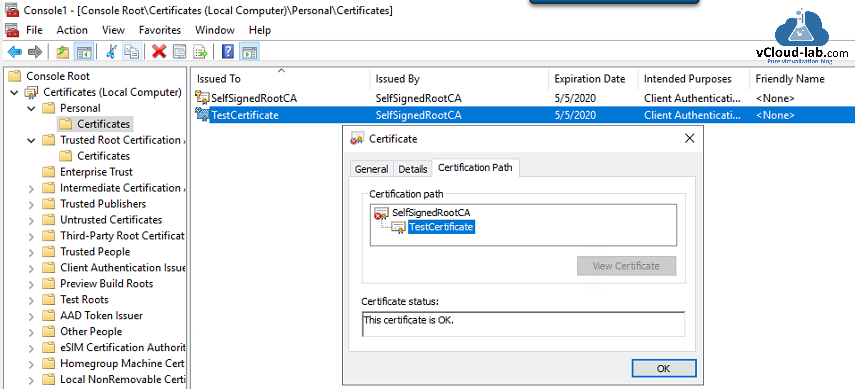 Powershell Generate Self-signed certificate with Self-Signed Root CA