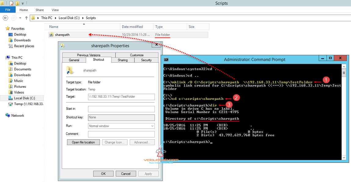 Configure Symbolic Link Mklink On Windows Server Vgeek Tales