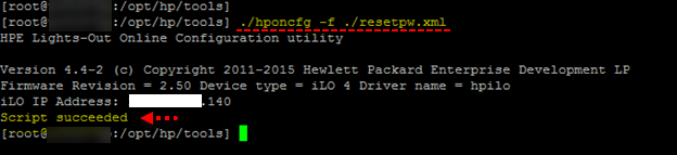 Reset HP ILO password from Esxi server | vGeek - Tales from real IT
