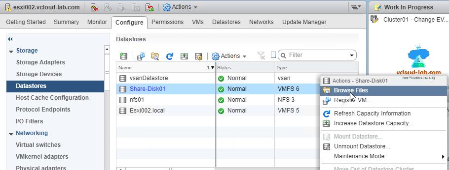 Upload files to vmware ESXi datastore: Different methods | vGeek