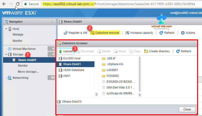 Upload files to vmware ESXi datastore: Different methods