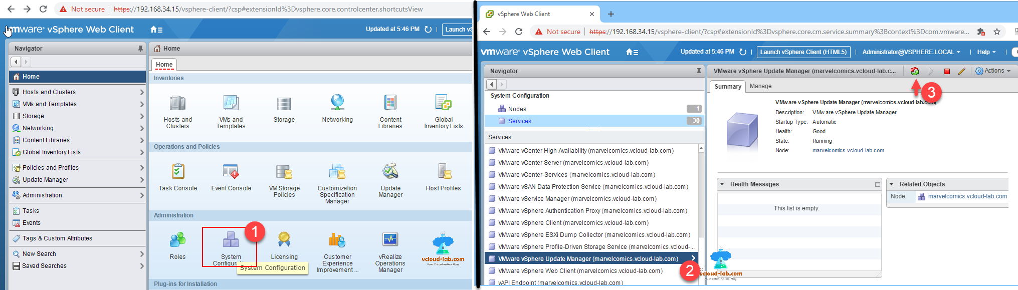 Configure the VMWare Update Manager Proxy Settings using