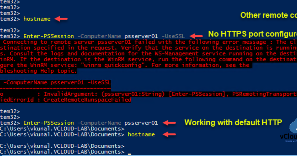 PowerShell remoting over HTTPS using self-signed SSL