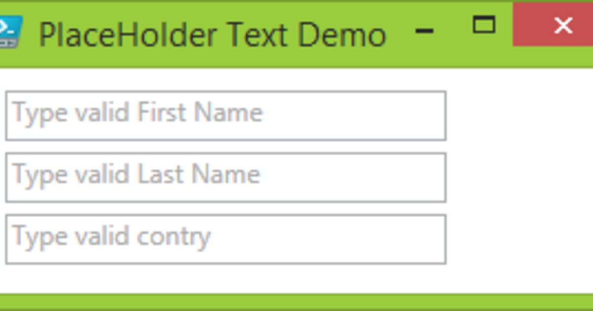 Powershell WPF GUI: ToolBox control Textbox watermark placeholder