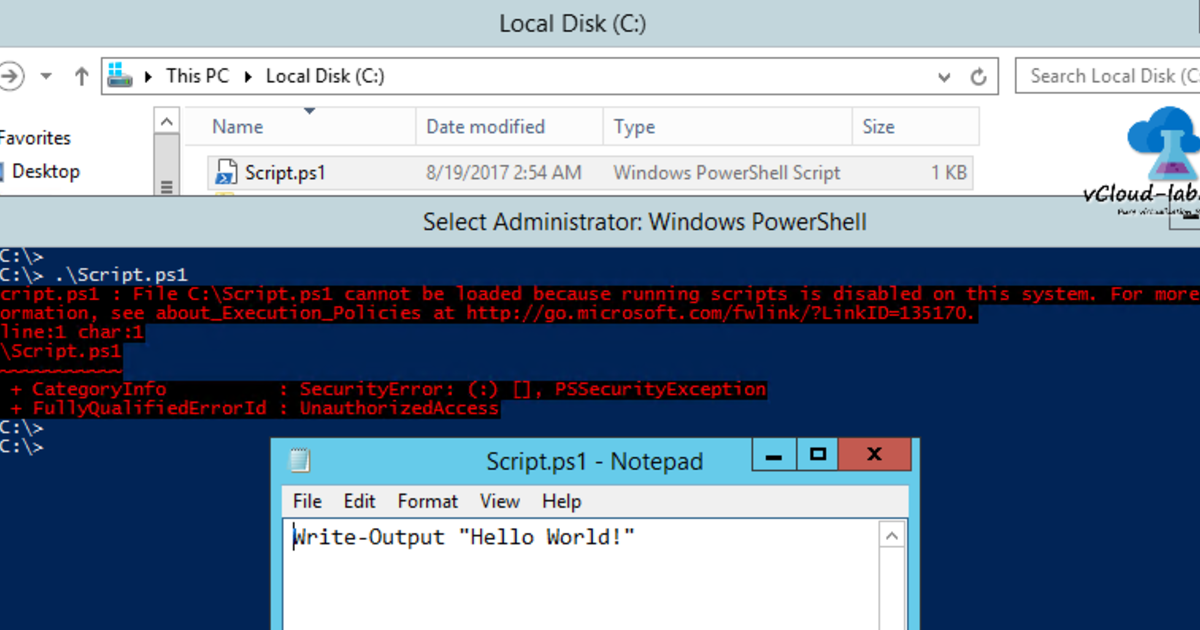 Different ways to bypass Powershell execution policy : ps1 cannot be