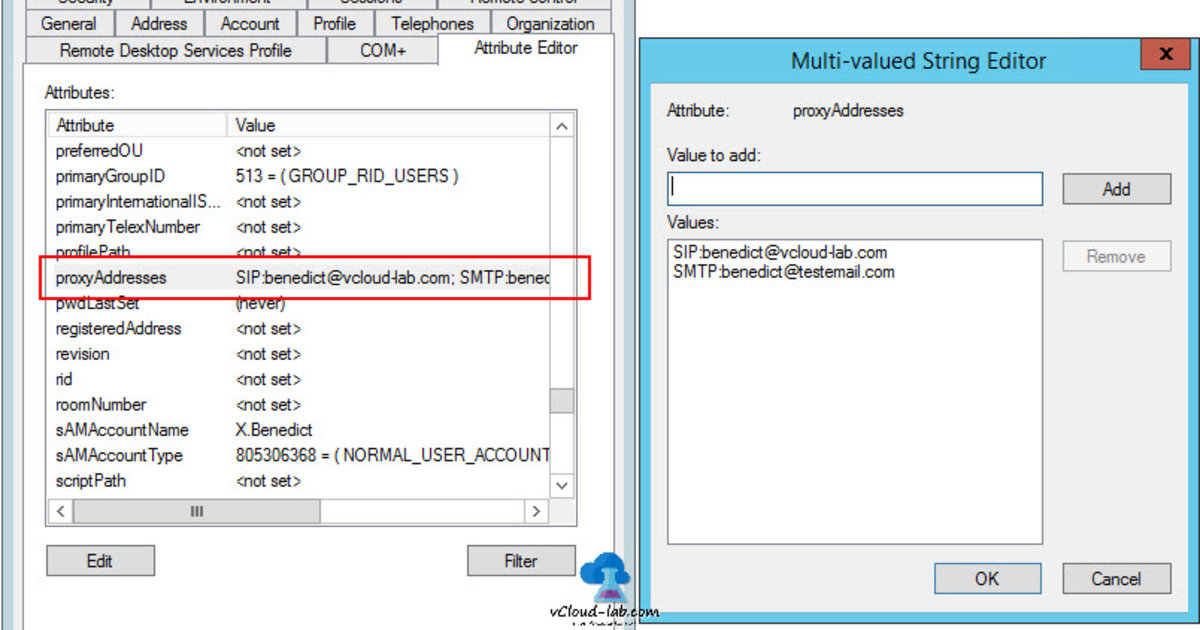 POWERSHELL ACTIVE DIRECTORY: ADD OR UPDATE PROXYADDRESSES IN USER