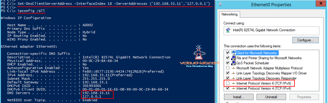 set-dnsclientserveraddress powershell dns ip configuration