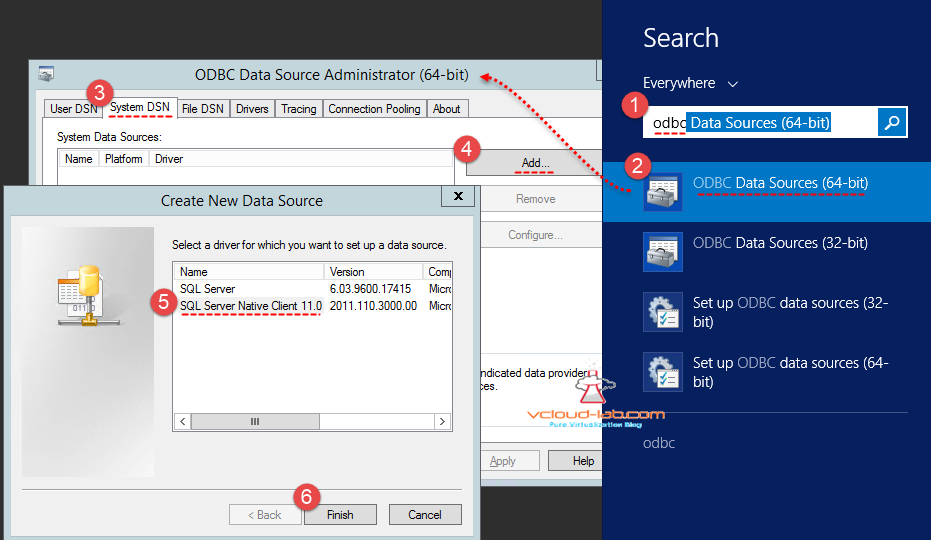 ODBC connection DSN creation for sql server native client