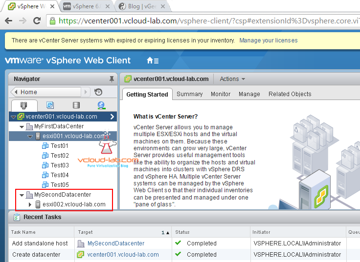 new-datacenter, get-folder, add-vmhost esxi powercli vmware vsphere web client tasks