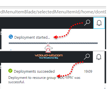 microsoft Azure deployment stauts successful failed succeeded