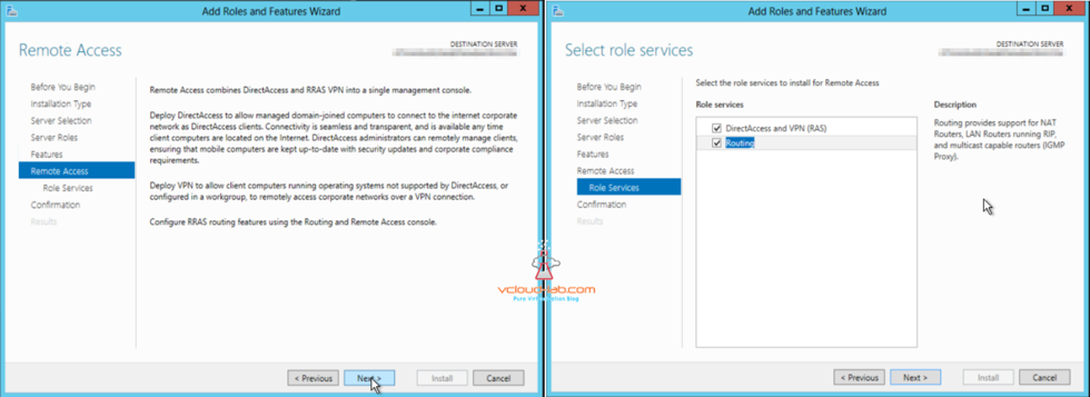 Microsoft Azure Remote Access directAccess rras vpn console