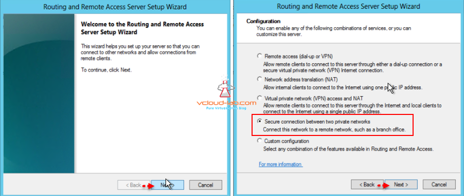 routing and remote access server setup wizard azure vpn connection setup