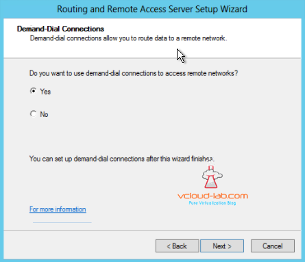 routing and remote access server setup wizard deman-dial connections