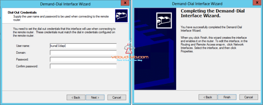 Demand-Dial Interface wizard azure VPN network shared key