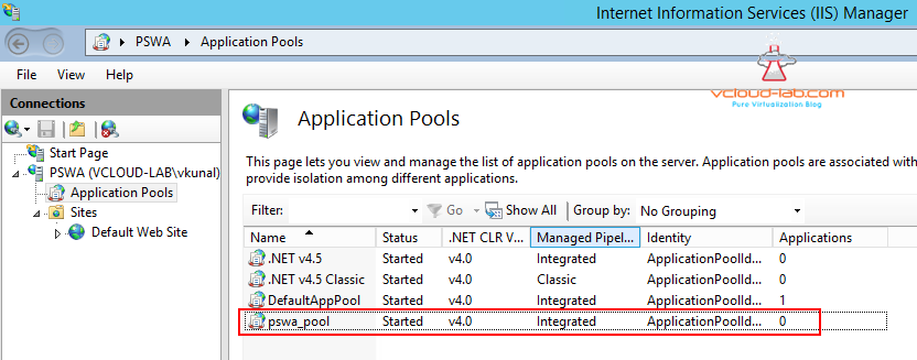 2. psws powershell web access add application pools in windows IIS web server  pswa_pool