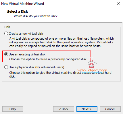 10 Install and create Powershell windows server 2016 nano image on vmware workstation use existing virtual disk vmdk, previously configured disk, Powershell as administrator, free tools vhd to vmdk vice versa