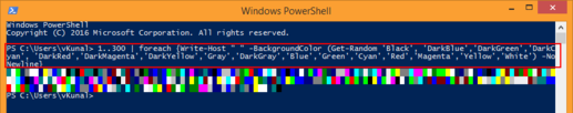 vcloud-lab.com powershell fun with color code on the screens, fun friday