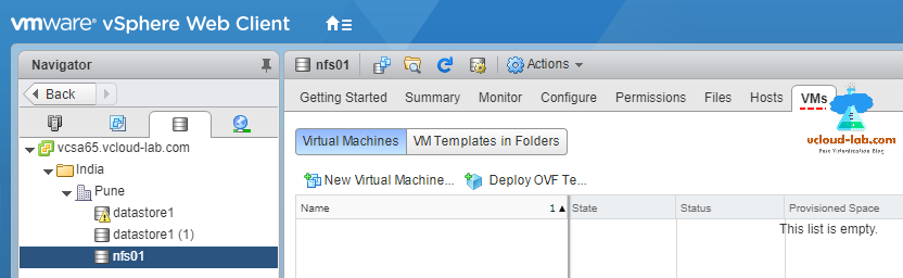 vmware vsphere web client nfs in use by virtual machine, mount NFS, unmount NFS, network file system, remove datastore from esxi, mount nfs vmfs datastore