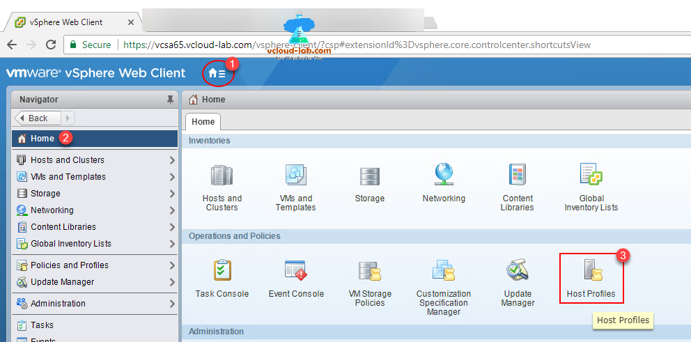 Vmware vsphere vcenter web client, esxi, reset password, using vcenter, Host profiles configuration, forgot root password
