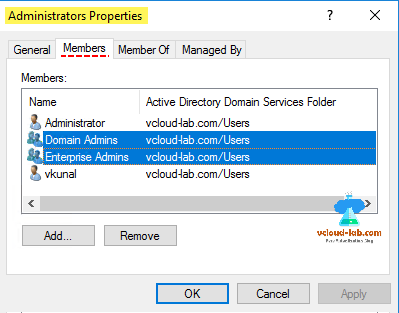 Active directory domain controller, powershell, dsa.msc, users and computers, members tab, fetch group, ad group