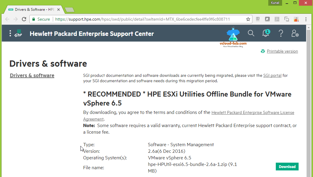 hpe hewlate packerd ilo integrated lights out, powershell, drivers vmware esxi server. utilities vsphere, vmware, esxi