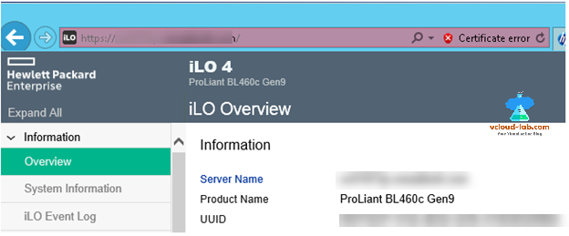 Hp ILo web page overview hewlett packard, Enterprise, reset password on esxi, vmware vsphere