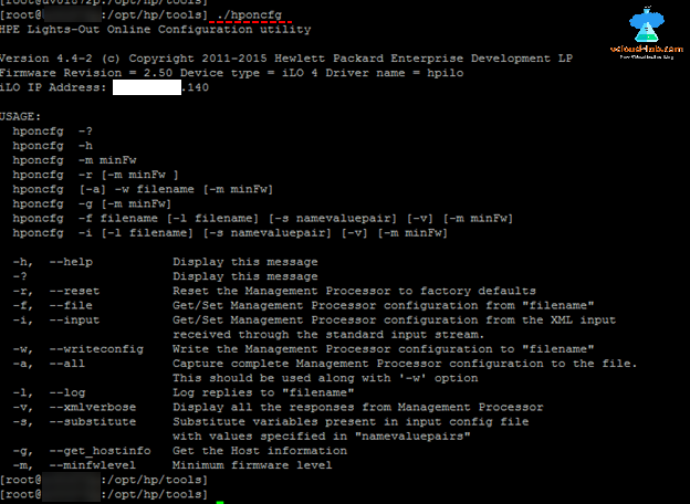 vmware vsphere esxi hponcfg, hp ilo configuration ip and password reset, commandline, command