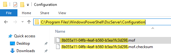 microsoft powershell, dsc, desired state configuration windowspowershell dscserver configuration, build pull server with GUID