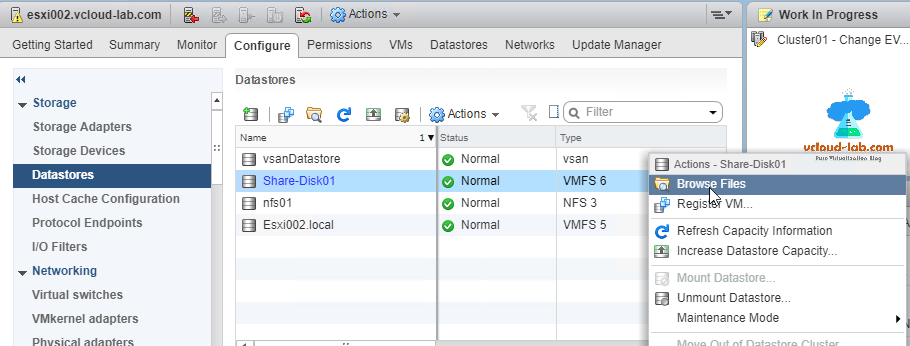 vmware vsphere esxi storage datastores shared disk lun disk browse files, upload files to datastore, vcenter.png