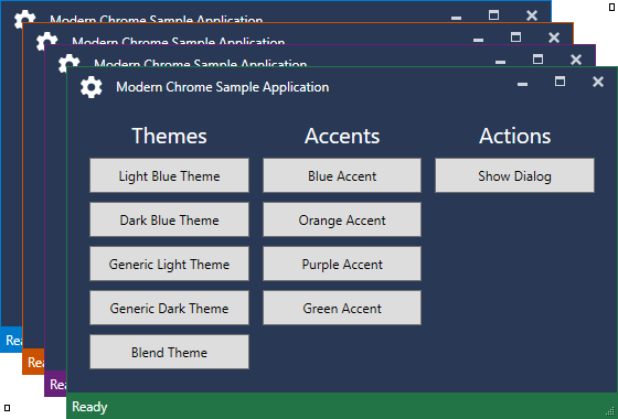 DarkBlue-Accents Modernchrome, Implementation Powershell wpf xaml themes mahapp metro