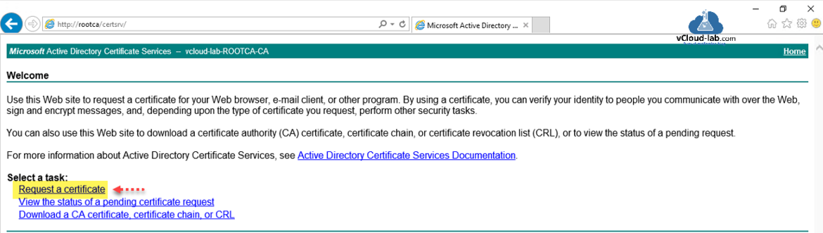 Microsoft active directory certificate services request a certificate  download a ca certificate chain or crl ca windows esxi powershell openssl certificate autority rui.crt key.png