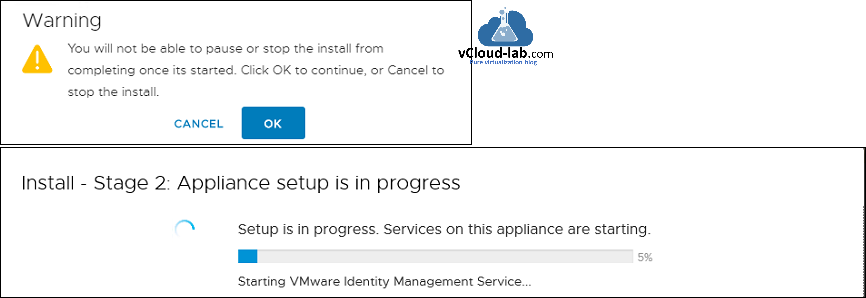 vmware vsphere vcenter install stage 2 appliance setup in progress, dns name resolution starting services nslookup dns management resolve name resolution a record host name record .png