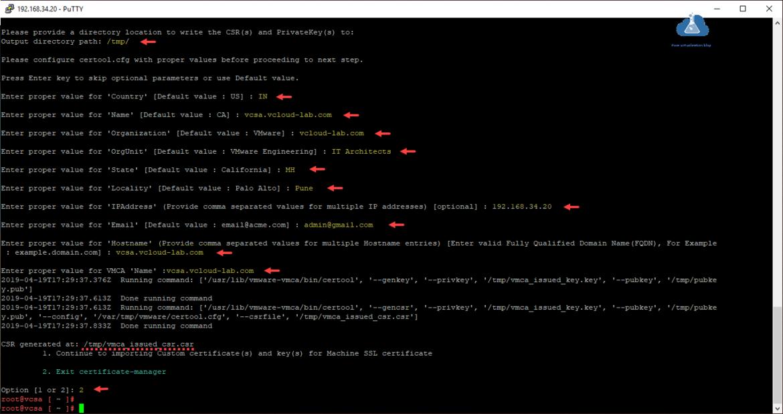 vmware vsphere vcenter appliance importing custon certificate and key for machine SSL certificate vmca_issued_csa.csr vmca_issued_key.key csr certtool.cfg certtool vmware-vmca bin gencsr privkey pubkey.png