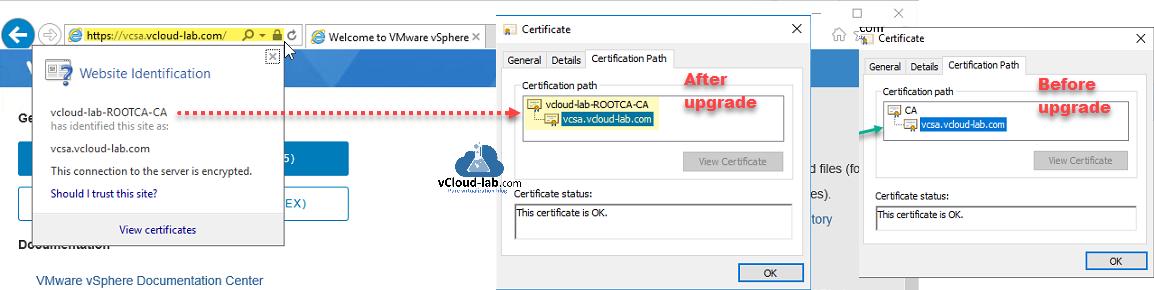 vmware vsphere esxi vcneter appliance server vsphere 6.7 certificate manager vmware certificate authority rootca-ca replace custom certificate ssl certificate path idetified certsrv subordinate ca renewal.png