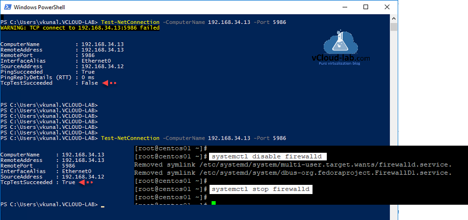 powershell on linux test-netconnection telnet port sytemctl disable firewalld stop firewall iptables linux, powershell remoting psremoting port https 5986 http 5985, desired state configuration.png