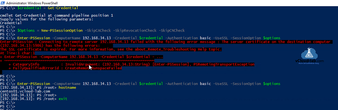 powershell core linux psremoting get-credential new-psessionoption -skipcacheck -skiprevocationcheck -skipcncheck enter-pssession credential -authentication basic -usessl -sessionoptions dsc.png