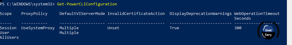 Get-PowerCLIConfiguration-InvalidCertificateAction-vmware-vsphere-powercli-module-7-set-powercliconfiguration-proxypolicy-scope-allusers-proxypolicy.png