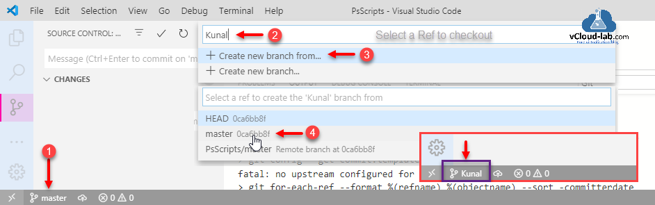 visual studio code vscode source control git github version control changes master head create new branch from commit stage view tree.png