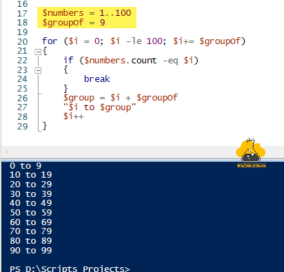 Microsoft powershell slice array into group of array cut group array into smaller array foreach-object for if else elseif join.png groupof group-object.png
